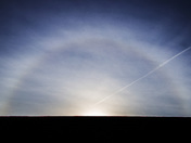 Halo over Harleston greets the Longest Day
