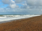 Cley Beach With Funny Face Cloud