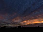 Sunset over Harleston in the Waveney Valley