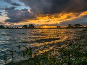 Highbridge reservoir Sunset