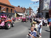 2017 Pink Ladies Annual Cancer Research Charity Tractor Run.