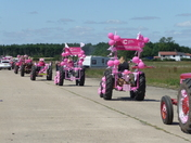 2017 Pink ladies annual tractor run in aid of cancer research