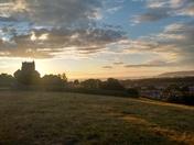 Uphill Church and Boatyard at Sunset