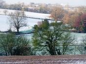 Landscape after snowfall.