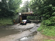 More flooding at Needham Lake Railway Bridge