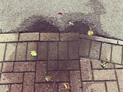 Concrete heart puddle