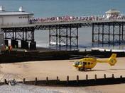 Air ambulance at Cromer