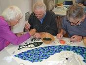 Mosaic making at St. Peter's Aldborough Hatch