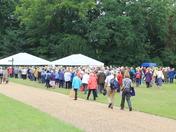 Crowds arriving at Sandringham