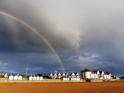 Rainbow over Royal Sands and the Golf Club.
