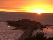 Sunset over Birnbeck Pier