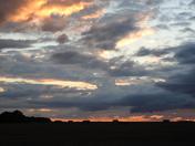 Harvest sunset