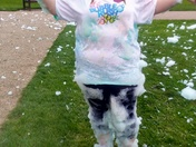 Bubble Rush Ipswich 2017 In aid of St Elizabeth hospice.