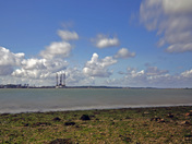 View across the Stour and n Shotley Pier