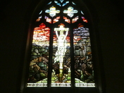 Window over the altar in Martlesham church