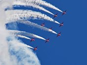 Red Arrows over Norwich airport