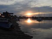 Sun setting at Wells