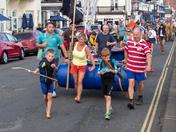 Sidmouth Regatta Raft Race held on Saturday 26 August 2017