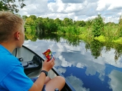 Last days of summer Holidays - Canoe trip up the river Stour with my Grandson