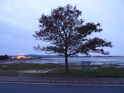The Exmouth Circus seen at dusk from the Estuary