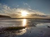 Winter sunset at Sand Bay