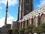 Cromer church - sunshine after the rain!