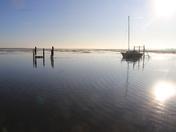 Morning high tide