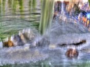 Project 52: Abstract- Waterfall on rocks