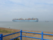 Felixstowe port.