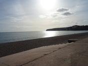 Seaton beach (East Devon) on a sunny autumn afternoon