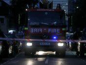 House Fire Closes Alma Street