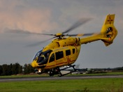 East Anglian air ambulance leaving Norwich airport
