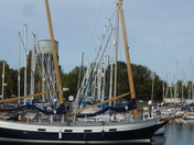 Masts in a row