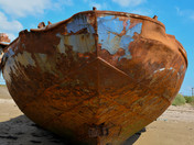 The derelict hulls on Instow Beach
