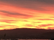 Red sunset over Exmouth
