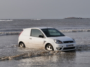 Cars saved from incoming tide at Weston Beach Race