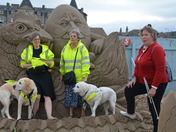 Guests from the Lauriston Hotel visit the Sand Sculpture Exhibition