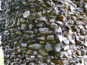 DETAIL. Flint Wall Of The Priory Ruins