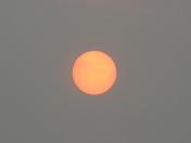 Orange Sun over Suffolk
