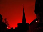 Lovely red sky over Hadleigh 16/10/2017