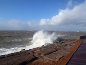 Windy day at Felixstowe