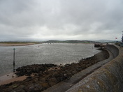 Exmouth looking towards Dawlish at low tide