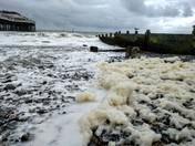 Sea foam at Cromer