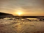 Winter sunset at Sandbay