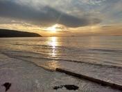 Evening November tide