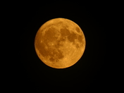 Red Moon over Attleborough last night