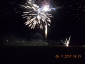 Fireworks from Exmouth Rugby Football Club on Bonfire Night