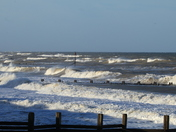 Choppy seas today at Walcott in Norfolk