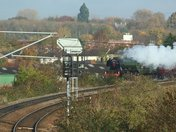 Flying Scotsman from Hadleigh Road bridge