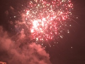 Fireworks display over Harrowlodge Park